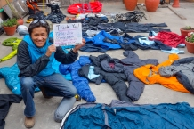 Clothing donation to porters